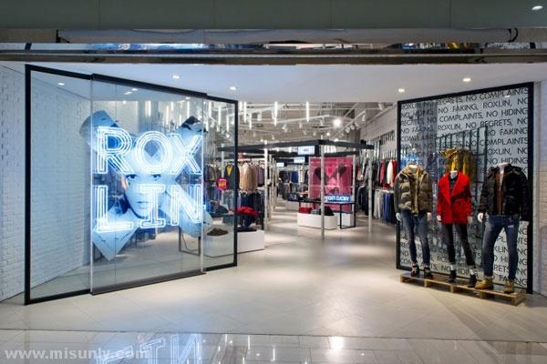 西安roxlin品牌服装店设计