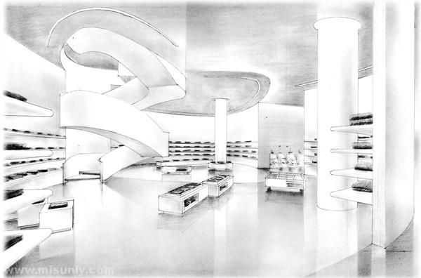 北京连卡佛精装修工程竣工图CAD版