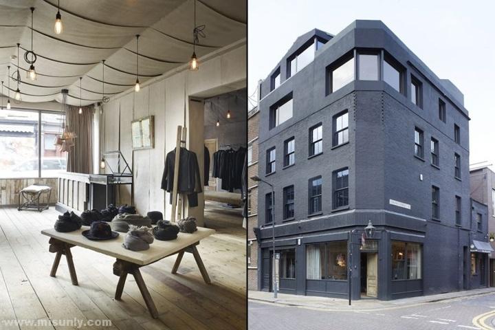 英国伦敦Hostem男装专卖店设计