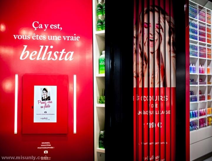 法国巴黎Les Bellista化妆品店设计