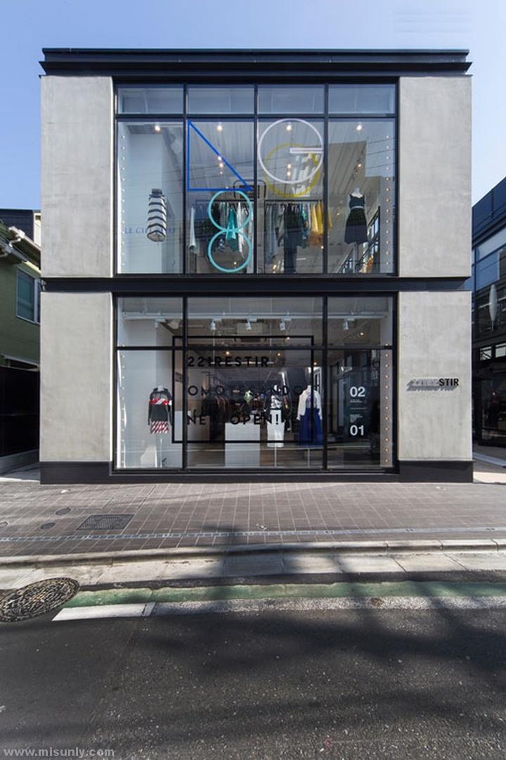 东京221Restir女装店铺设计