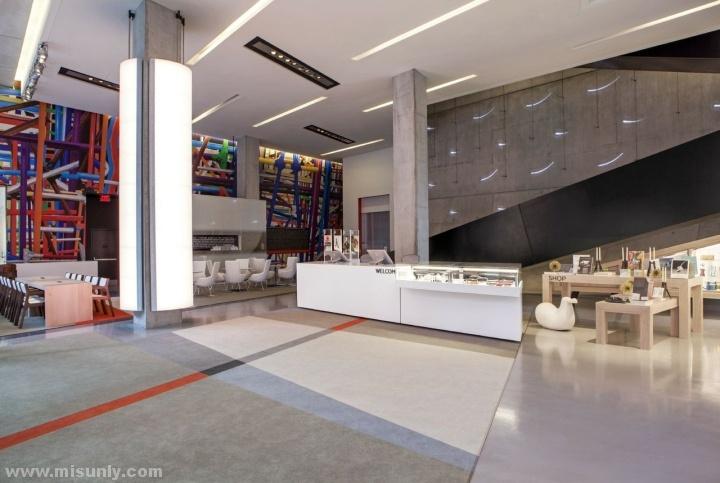 俄亥俄州当代艺术中心大堂餐厅设计