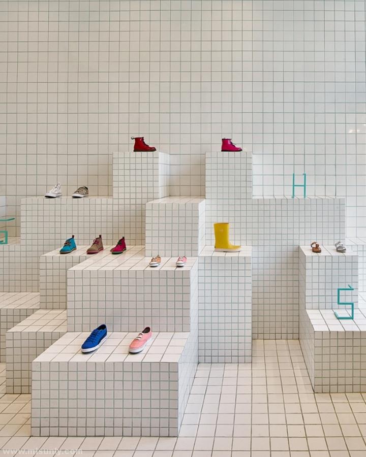 极简约鞋店设计