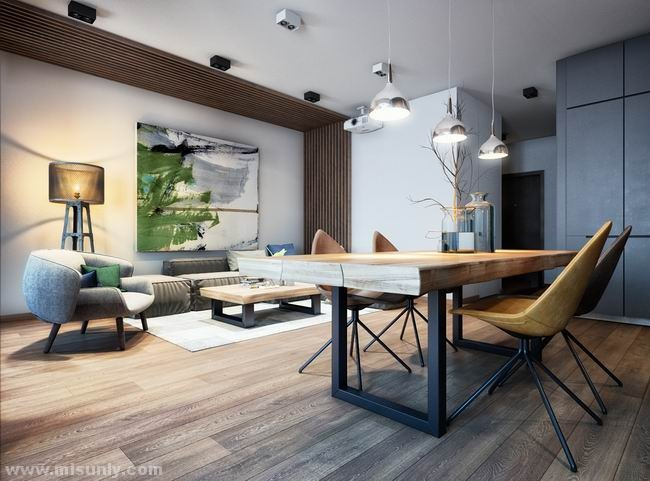 舒适之感的基辅公寓  MARTINarchitects