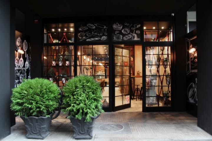 2016服装店工业风门头设计
